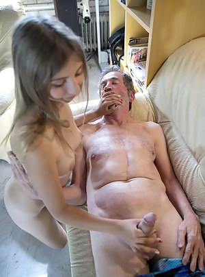 Naked Old Man and Girl Porn Pictures